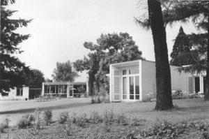 Atelierhäuser der Neuen Künstlerkolonie auf der Rosenhöhe um 1970, Signatur: StadtA DA Best. 53 Nr. 2441