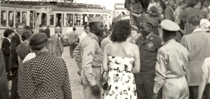 Amerikanische Soldaten auf dem Heinerfest 1953, StadtA DA Best. 53 Nr. 1770