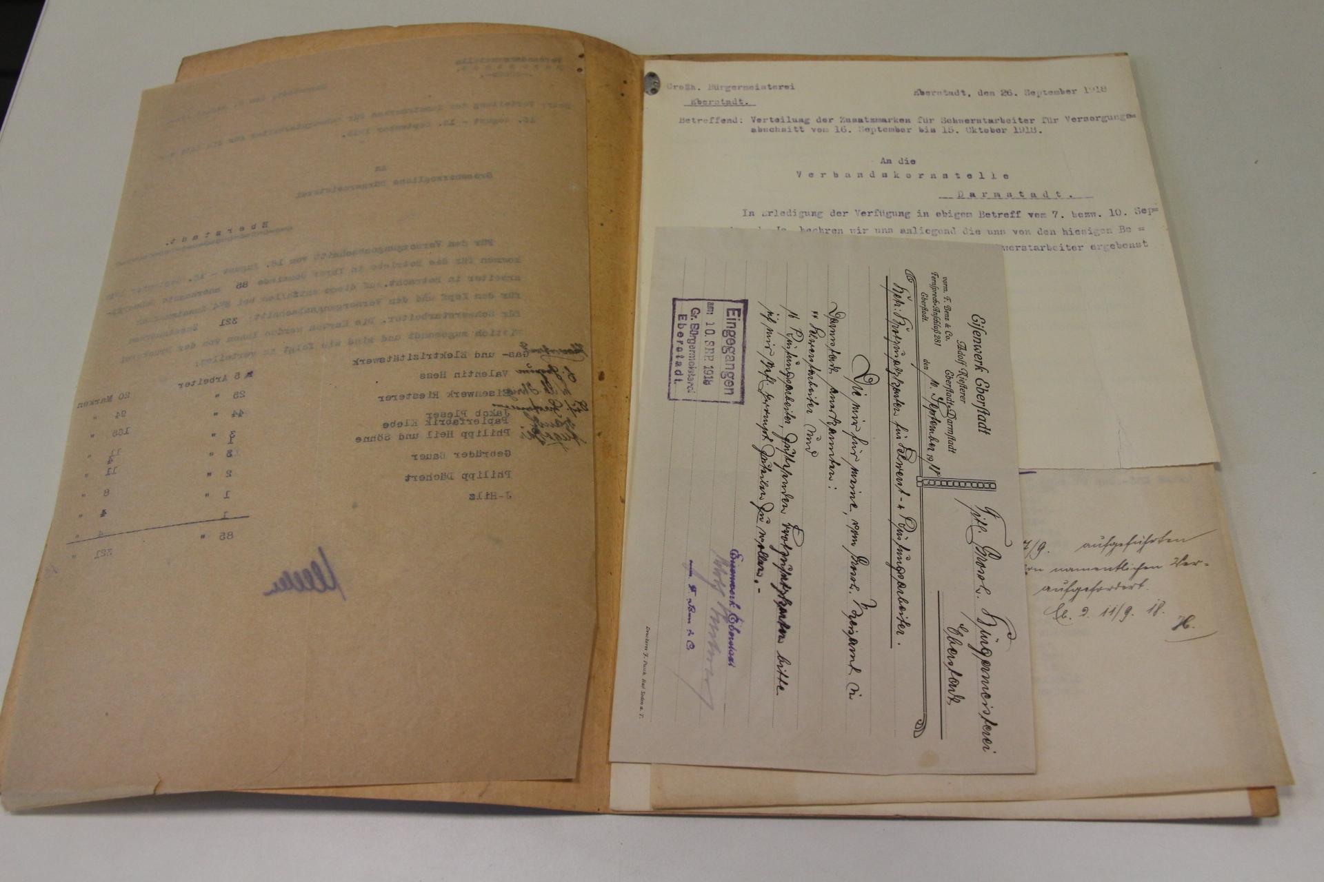 StadtA DA ST15 Eberstadt A8/345. Handschriften und Kopien aus 19. Jh. Foto: Wissenschaftsstadt Darmstadt/Stella Lessig