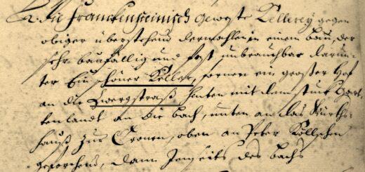 Beschreibung im Salbuch der hessischen Kellerei Eberstadt von 1699, HStAD Bestand C 2 Nr. 27/1