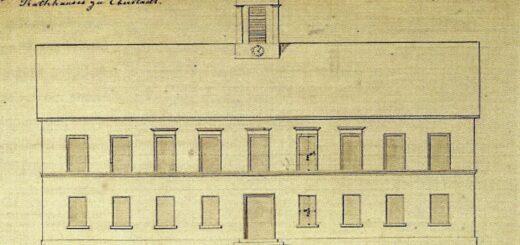 Entwurf des Rat- und Schulhauses 1847