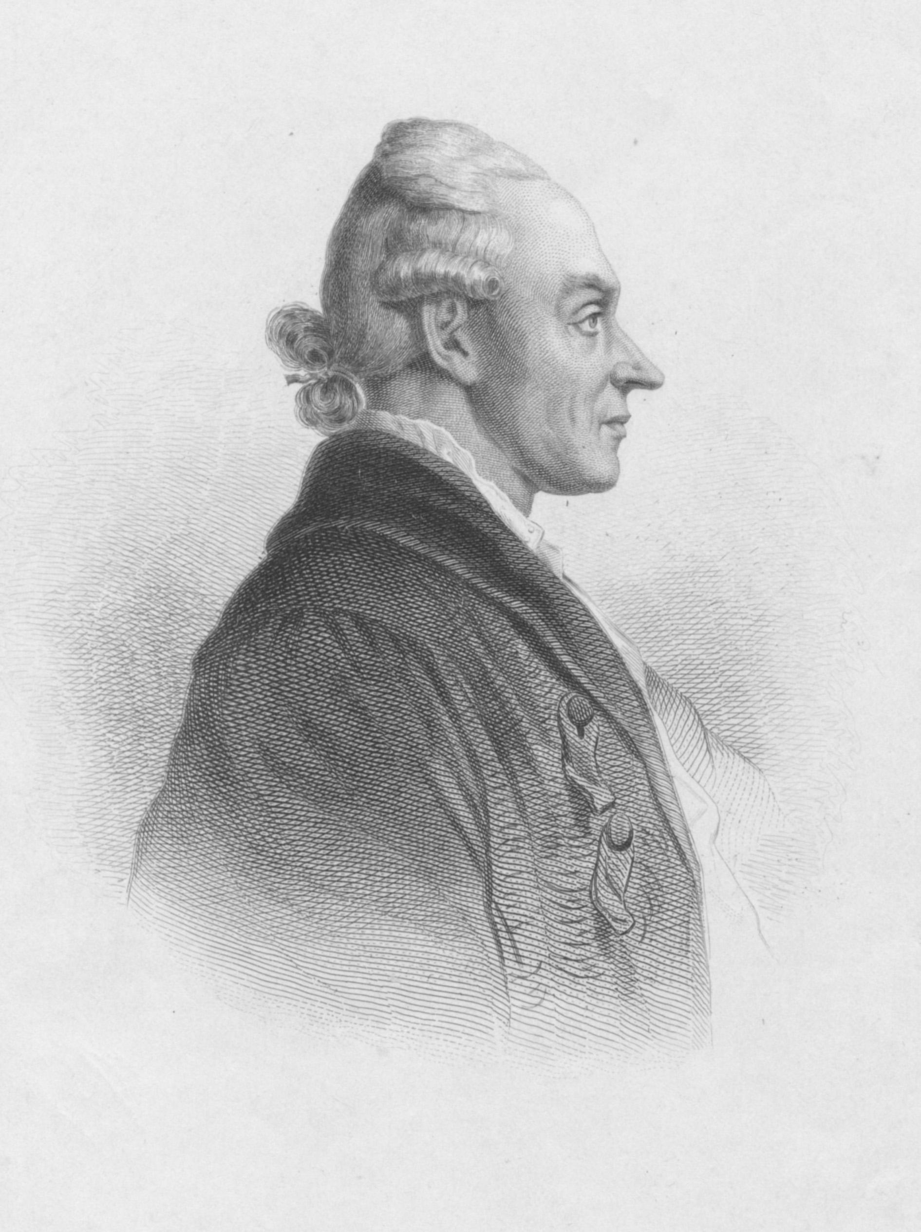 Portrait von Johann Heinrich Merck, der nach rechts blickt